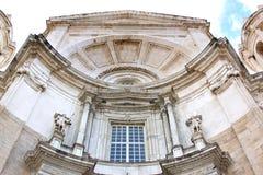 Voorzijde van de Kathedraal van Cadiz, Spanje Stock Fotografie