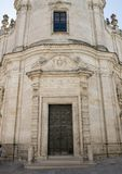 Voorzijde van de Kerk van Vagevuur, Matera Royalty-vrije Stock Foto's