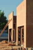 Voorzijde van de nieuwe bouw in aanbouw Royalty-vrije Stock Fotografie
