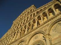 Voorzijde van Duomo in Pisa Stock Foto