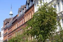 Voorzijde van een gebouw van de Jugendstil Stock Foto's