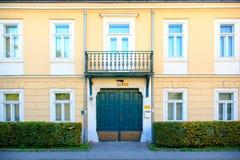 Voorzijde van een gebouw in Wenen Royalty-vrije Stock Afbeeldingen