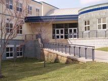 Voorzijde van een modern gebouw Stock Fotografie