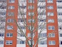 Voorzijde van een modern gebouw in Kiel, Duitsland Stock Fotografie