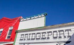 Voorzijde van een opslag in Bridgeport, Californië Stock Fotografie