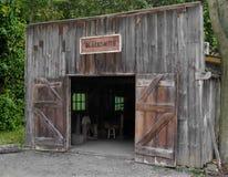 Voorzijde van een oude smidswinkel Stock Foto