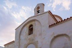 Voorzijde van Griekse kerk in Zuid-Italië Royalty-vrije Stock Fotografie