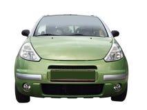 Voorzijde van groene auto stock foto's