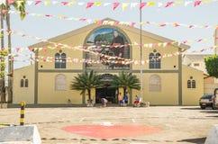 Voorzijde van het auditorium Dom Joao Batista Costa in Porto Velho ci Royalty-vrije Stock Fotografie