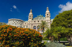 Voorzijde van het Grote Casino in Monte Carlo Stock Foto
