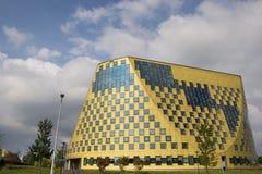 Voorzijde van het moderne stadhuis van Hardenberg Stock Afbeeldingen