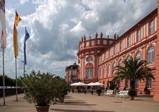 Voorzijde van het Paleis Biebrich Royalty-vrije Stock Foto