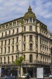 Voorzijde van Hotelcapitool Boekarest Stock Foto