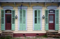 Voorzijde van huis in New Orleans, Louisiane Stock Afbeeldingen
