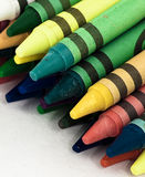 Voorzijde van kleurpotloden Royalty-vrije Stock Foto