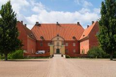 Voorzijde van Krapperup-Kasteel Stock Foto