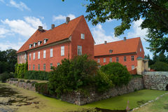 Voorzijde van Krapperup-Kasteel Stock Afbeelding