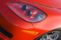 Voorzijde van moderne Amerikaanse spierauto Royalty-vrije Stock Foto's