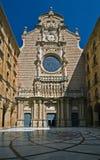 Voorzijde van Montserrat kathedraal Stock Afbeelding