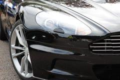 Voorzijde van mooie luxeauto Stock Foto