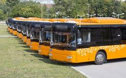 Voorzijde van openbaar vervoer de nieuwe bussen Royalty-vrije Stock Afbeelding