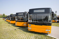 Voorzijde van openbaar vervoer de nieuwe bussen Royalty-vrije Stock Foto's
