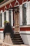 Voorzijde van oud huis Royalty-vrije Stock Foto