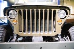 Voorzijde van oude Amerikaanse jeep Royalty-vrije Stock Fotografie