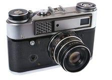 Voorzijde van oude fotocamera. Isometrische mening. Royalty-vrije Stock Foto