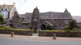 Voorzijde van Oude Postofiice in Tintagel Stock Foto