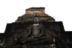 Voorzijde van whit van Boedha oude pagode Stock Foto
