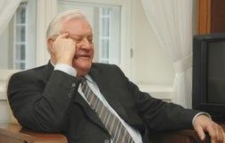 Voorzitter Algirdas Brazauskas van vroeger Litouwen Stock Foto