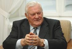 Voorzitter Algirdas Brazauskas van vroeger Litouwen Stock Fotografie