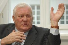 Voorzitter Algirdas Brazauskas van vroeger Litouwen Royalty-vrije Stock Afbeeldingen