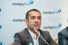 Voorzitter van Compulink-Groep Bedrijven Mikhail Lyashch stock foto
