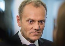 Voorzitter van de Europese Raad Donald Tusk Royalty-vrije Stock Afbeelding