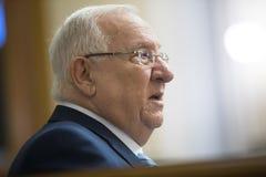 Voorzitter van Israel Reuven Rivlin Stock Fotografie