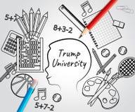 Voorzitter van Training College By van de troef de Universitaire Student - 2d Illustratie stock afbeelding