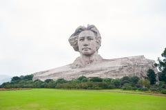 VoorzittersMao standbeeld de Provincie in van Tchang-cha, Hunan, China Stock Foto