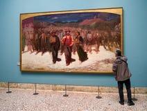 Vopedo målning i den Brera konstgallerit, Milan Arkivbilder