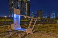 Vorübergehende städtische Möbel stockfotografie