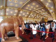 Vorübergehende THAILÄNDISCHE traditionelle Künste und Architekturausstellung Lizenzfreies Stockbild