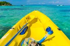 Vor dem Kayak fahren im Meer in Lipe-Insel Lizenzfreies Stockfoto