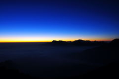 Vor dem Sonnenaufgang Lizenzfreie Stockbilder