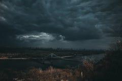 Vor dem Sturm Stockbild
