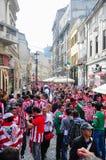 Vor der Europa-Liga 2012 abschließend (2) Stockbild