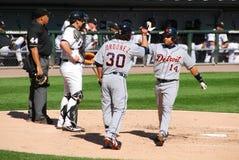 Vor Detroit Tigers zehn Jahren stockfotos