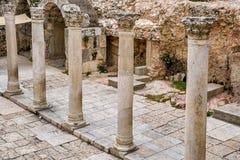 Vor eine Hauptmarktstraße ab 2000 Jahren, in der alten Stadt von Jerus Stockfotografie