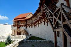 Vor Feldioara-Festung wurde 900 Jahren von den teutonic Rittern im Dorf Feldioara, Marienburg, Rumänien errichtet lizenzfreies stockbild