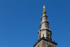 Vor Frelsers Kirke, kyrka av vår frälsare i Köpenhamnen, Danmark Royaltyfri Foto